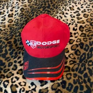 Free* hat with $15 purchase! Red Dodge NASCAR hat